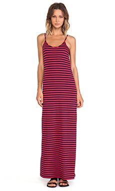 Bobi Light Weight Jersey Striped Maxi Dress