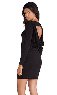 Bobi Cut Out Dress in Black