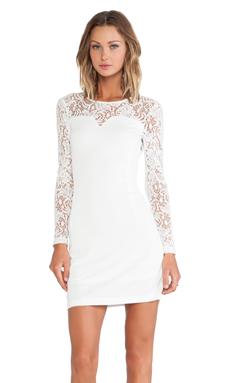 Bobi BLACK Long Sleeve Dress in White