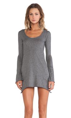 Bobi Jersey Asymmetrical Dress in Dark Heather