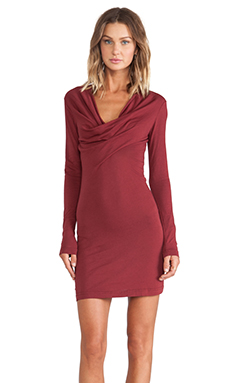 Bobi Jersey Mini Dress in Vineyard