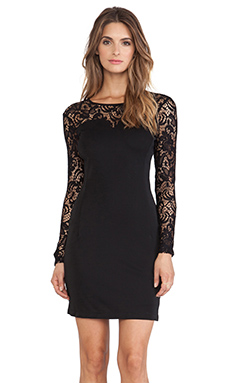 Bobi BLACK Jersey Long Sleeve Dress in Black
