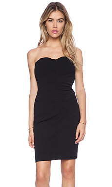 Bobi Strapless Mini Dress in Black
