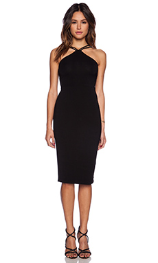 Bobi Rayon Jersey Double Strap Dress in Black