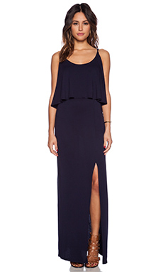 Bobi Modal Jersey Trapeze Maxi Dress in Passport
