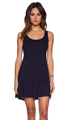 Bobi Light Weight Jersey Mini Dress in Passport