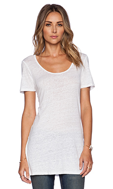 Bobi Solid Linen Tunic in White