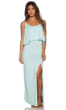 Bobi Modal Jersey Trapeze Maxi in Bubble Blue
