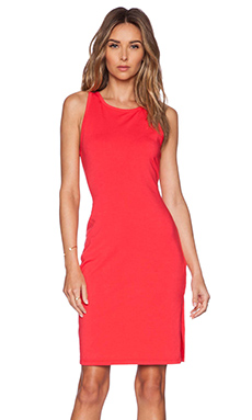 Bobi Heavy Spandex Dress in Light Raspberry