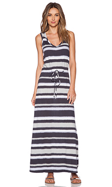 Bobi Boho Stripe Maxi Dress in Storm