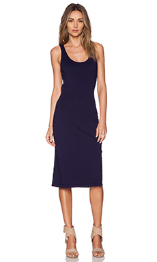 Bobi Supreme Jersey Midi Dress in Yacht