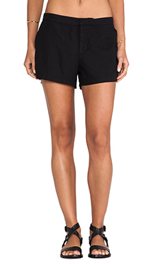 Bobi Linen Short in Black