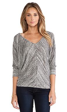 Bobi Space Dye Dolman Sweater in Black