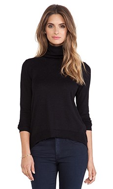 Bobi Turtleneck Sweater in Black