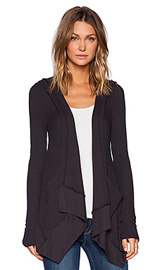 Bobi Modal Thermal Cardigan in Deep Grey