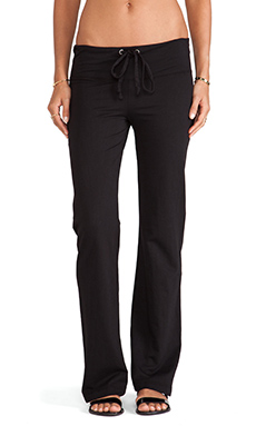 Bobi Wide Leg Sweatpant in Black
