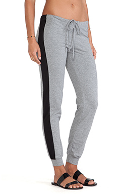 Bobi Colorblock Sweatpant in Thunder & Black