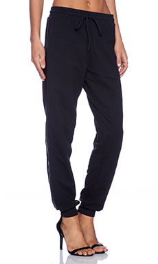 Bobi Cashmere Terry Sweatpant in Black