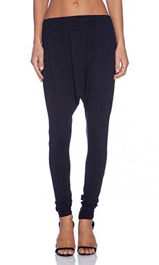 Bobi Modal Jersey Harem Pant in Black