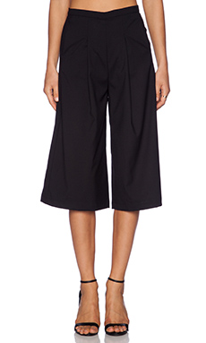Bobi Rayon Gabardine Tailored Gaucho in Black