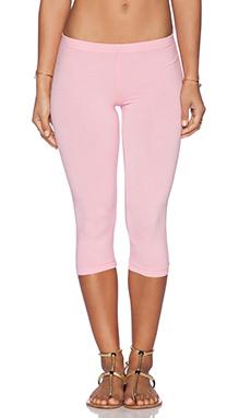 Bobi Cotton Lycra Crop Legging in Bunny Pink