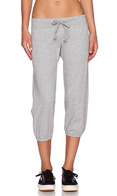 Bobi Light Weight Cashmere Terry Sweatpant in Heather Grey