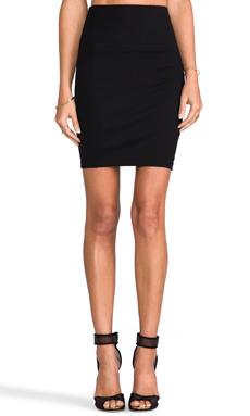 Bobi Ponte Skirt in Black