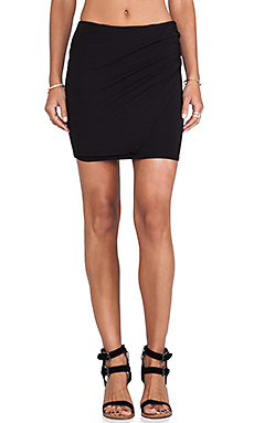 Bobi Cotton Mini Skirt in Black