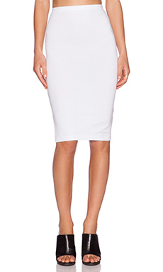 Bobi Cotton Lycra Skirt in White