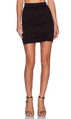 Bobi Modal Jersey Mini Skirt in Black