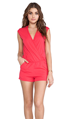 Bobi Supreme Jersey Short Romper in Berry Red