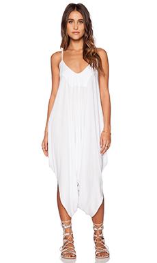 Bobi Modal Jersey Harem Jumpsuit in White