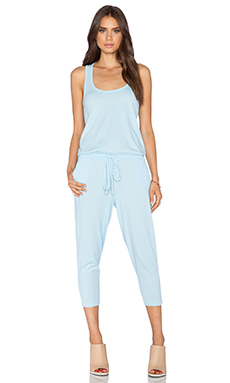 Bobi Supreme Jersey Racerback Jumpsuit in Pool Blue