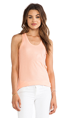Bobi Light Weight Jersey Tank in Coral