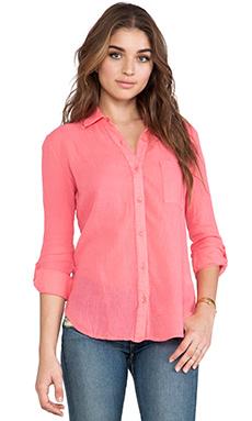 Bobi Gauze Button Down in Sunset