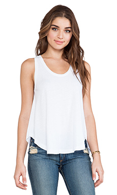 Bobi Slub Swing Tank in White