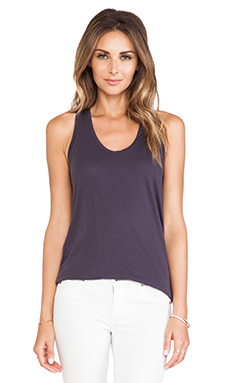 Bobi Light Weight Loose Tank in Deep Grey