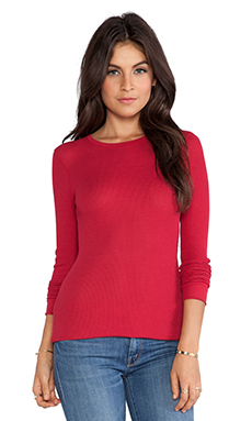 Bobi Thermal Long Sleeve Tee in Redwine