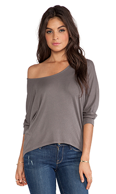 RIBBED LONG SLEEVE DOLMAN