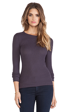 Bobi Thermal Long Sleeve Tee in Deep Grey