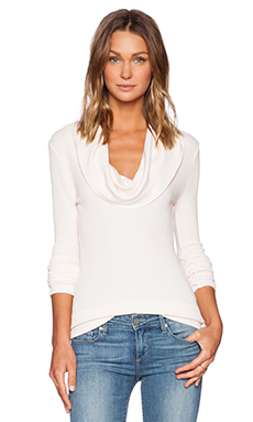 MODAL THERMAL COWL NECK LONG SLEEVE TEE
