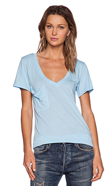 Bobi Light Weight Jersey Tee in Pool Blue