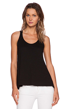 Bobi Slub Jersey Tank in Black