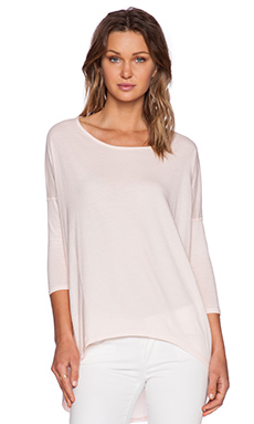 Bobi Light Weight Jersey 3/4 Sleeve Tee in Prarie Girl