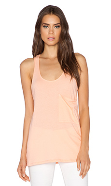 Bobi Light Weight Jersey Racerback Tank in Peachy