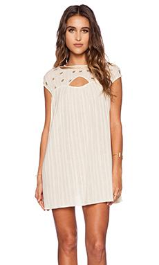 bohemian BONES Mirror Embroidery Morning Dew Dress in Ivory
