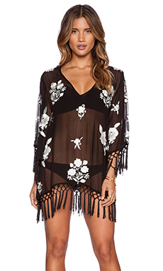 bohemian BONES Arizona Floral Mojave Mumu in Black