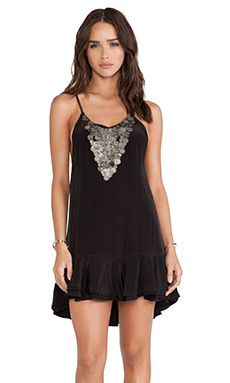 bohemian BONES Embellished Cheeky Dress in Black