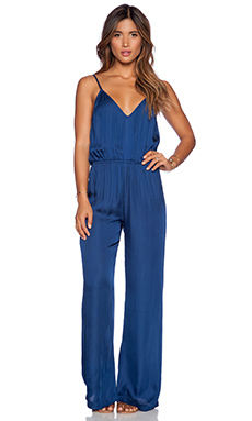 bohemian BONES Happy Hour Jumpsuit in Lapis