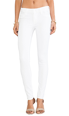 Black Orchid Mid Rise Skinny in Snow White